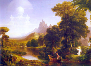 Thomas Cole The Voyage of Life: Youth - Canvas Art Print