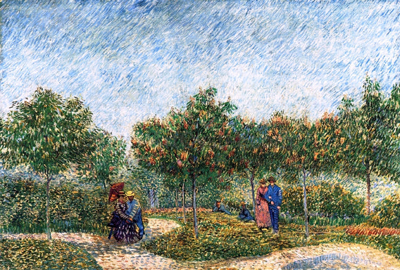 Vincent Van Gogh The Voyer d'Argenson Park in Asnieres - Canvas Art Print