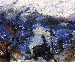 Lovis Corinth The Walchensee, Mountains Wreathed in Cloud - Canvas Art Print