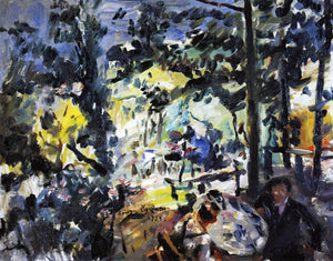 Lovis Corinth The Walchensee, On the Terrace - Canvas Art Print