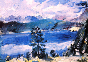 Lovis Corinth The Walchensee with a Larch Tree - Canvas Art Print