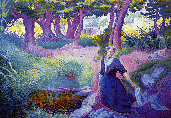 Henri Edmond Cross The Washerwoman - Canvas Art Print