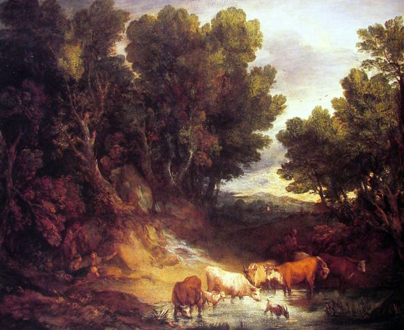 Thomas Gainsborough The Watering Place - Canvas Art Print
