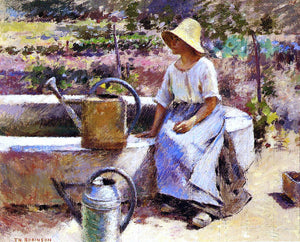 Theodore Robinson The Watering Pots - Canvas Art Print