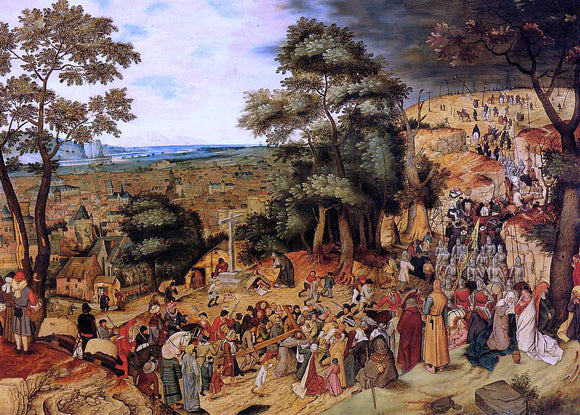 The Younger Pieter Bruegel The Way of the Cross - Canvas Art Print