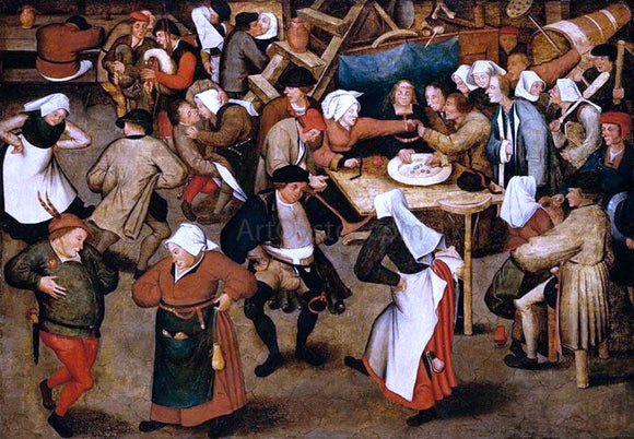 The Younger Pieter Brueghel The Wedding Dance in a Barn - Canvas Art Print