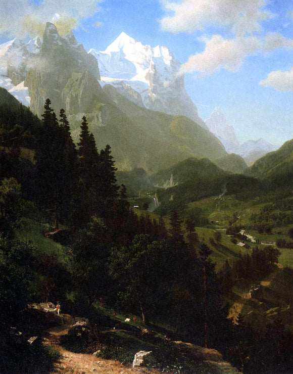 Albert Bierstadt The Wetterhorn - Canvas Art Print