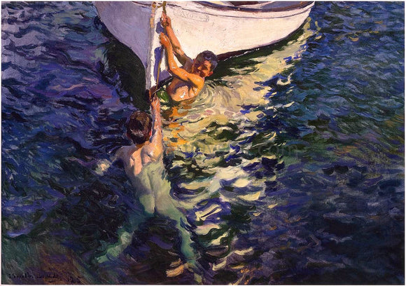 Joaquin Sorolla Y Bastida The White Boat, Javea - Canvas Art Print