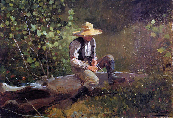 Winslow Homer The Whittling Boy - Canvas Art Print