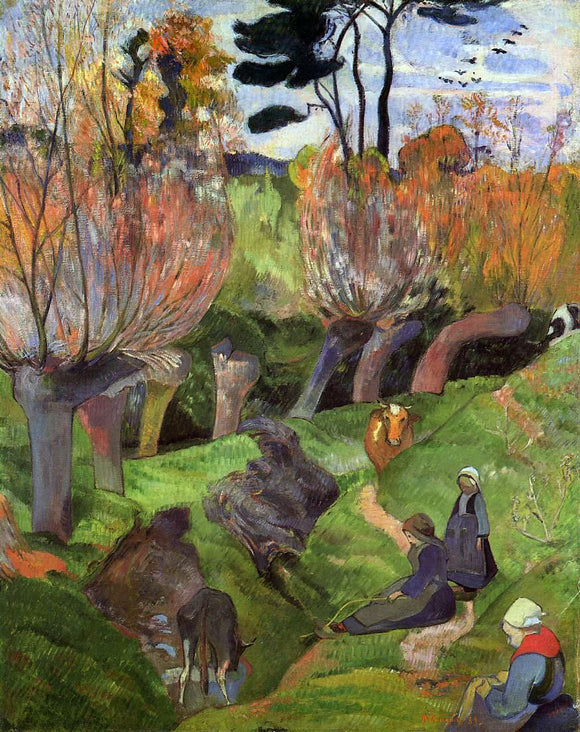 Paul Gauguin The Willows - Canvas Art Print