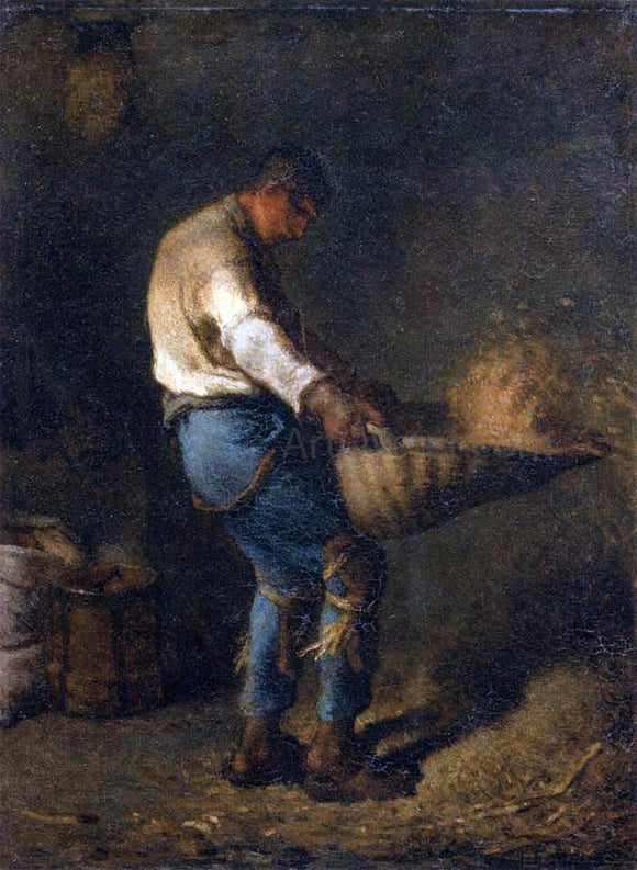 Jean-Francois Millet The Winnower - Canvas Art Print