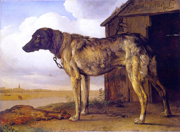 Paulus Potter The Wolf-Hound - Canvas Art Print