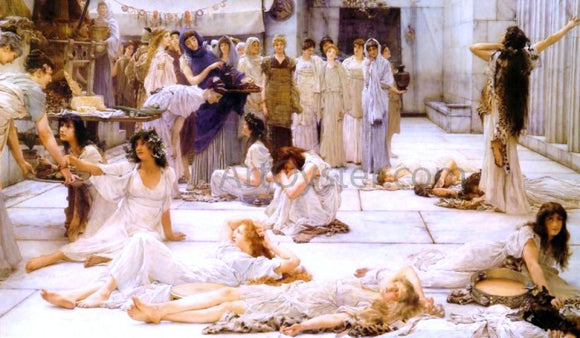 Sir Lawrence Alma-Tadema The Women of Amphissa - Canvas Art Print