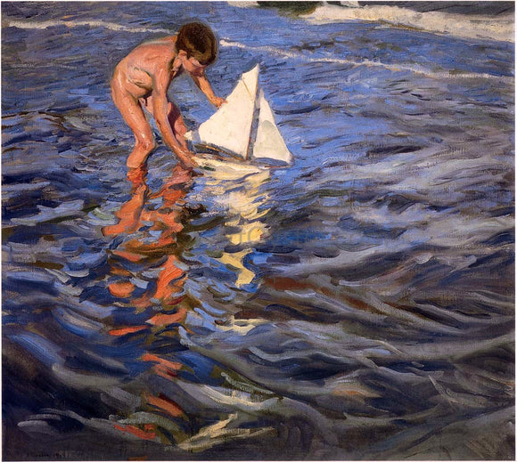 Joaquin Sorolla Y Bastida The Young Yachtsman - Canvas Art Print