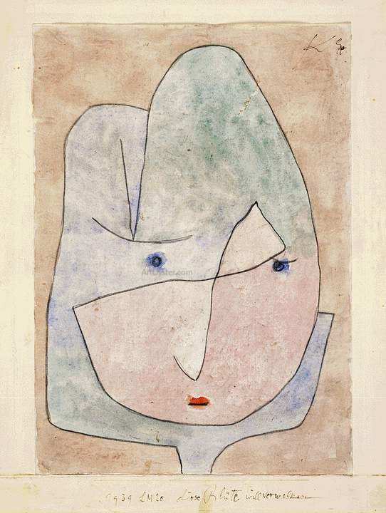 Paul Klee This Flower Wishes to Fade - Canvas Art Print