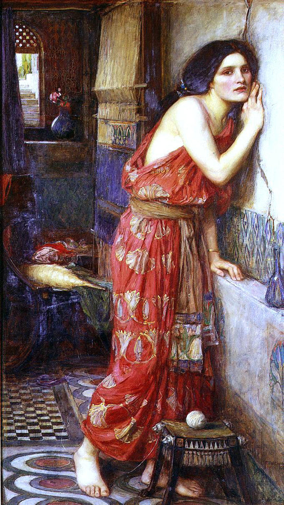 John William Waterhouse Thisbe (also known as The Listener) - Canvas Art Print