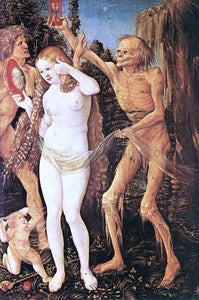 Hans Baldung Three Ages of the Woman and the Death - Canvas Art Print
