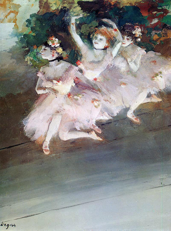 Edgar Degas Three Ballet Dancers - Canvas Art Print