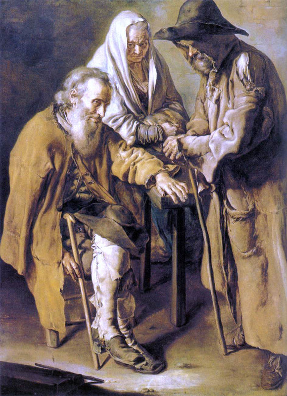 Giacomo Ceruti Three Beggars - Canvas Art Print