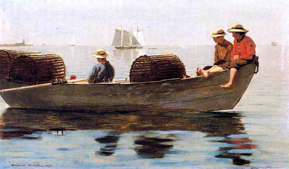 Winslow Homer Three Boys in a Dory - Canvas Art Print
