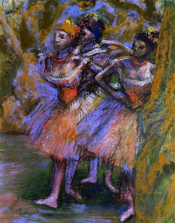 Edgar Degas Three Dancers - Canvas Art Print