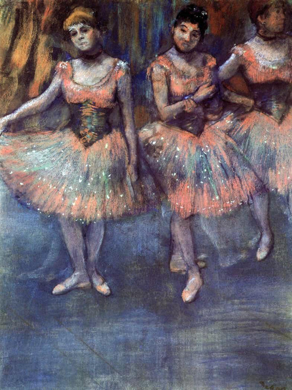 Edgar Degas Three Dancers before Exercise - Canvas Art Print