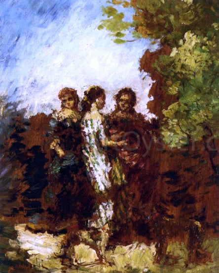 Adolphe-Joseph-Thomas Monticelli Three Friends - Canvas Art Print