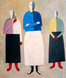 Kazimir Malevich Three Girls - Canvas Art Print