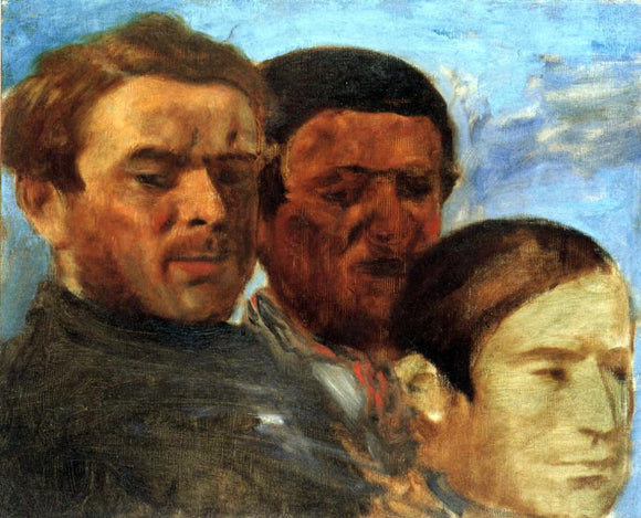 Edgar Degas Three Heads - Canvas Art Print