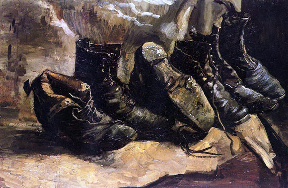 Vincent Van Gogh Three Pair of Shoes - Canvas Art Print