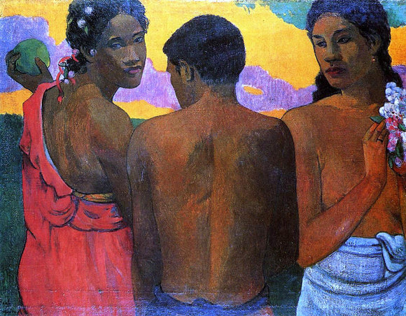 Paul Gauguin Three Tahitians - Canvas Art Print