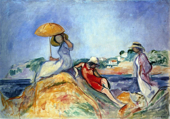 Henri Lebasque Three Women by the Sea - Canvas Art Print