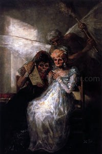 Francisco Jose de Goya Y Lucientes Time and the Old Women - Canvas Art Print
