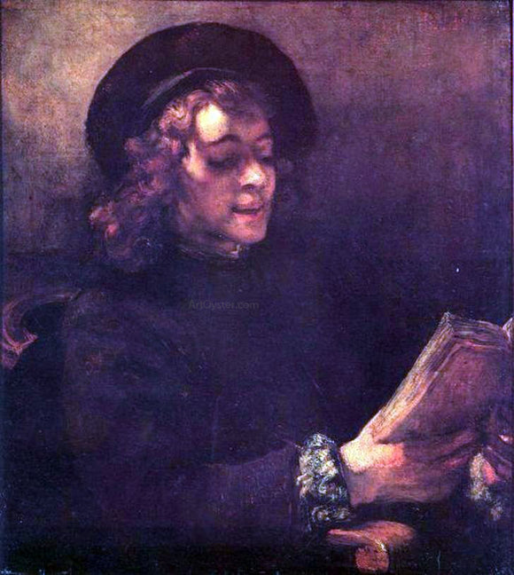 Rembrandt Van Rijn Titus Reading - Canvas Art Print