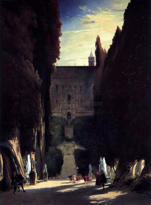 Carl Blechen Tivoli Gardens at the Villa d'Este - Canvas Art Print