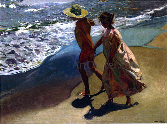 Joaquin Sorolla Y Bastida To the Water - Canvas Art Print