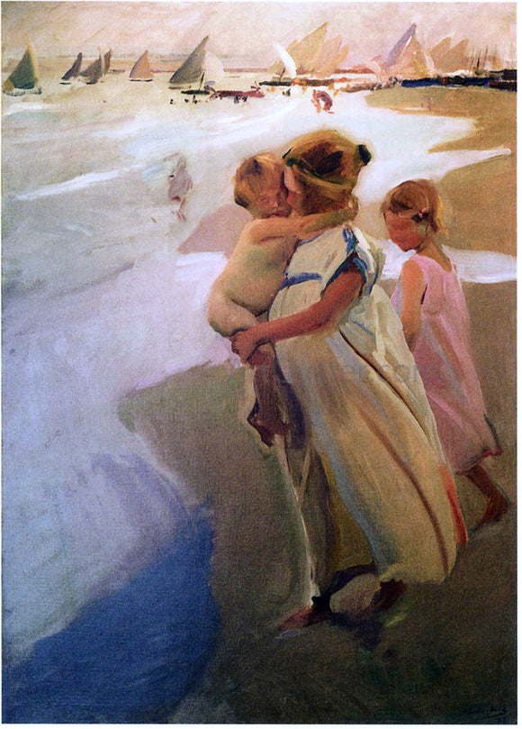 Joaquin Sorolla Y Bastida To the Water, Valencia - Canvas Art Print