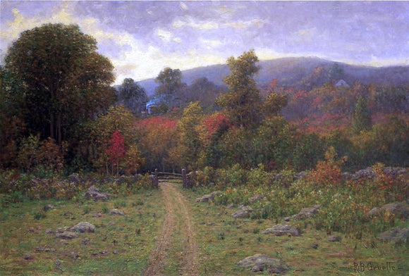 Richard B Gruelle Toward the Close of an Autumn Day - Canvas Art Print