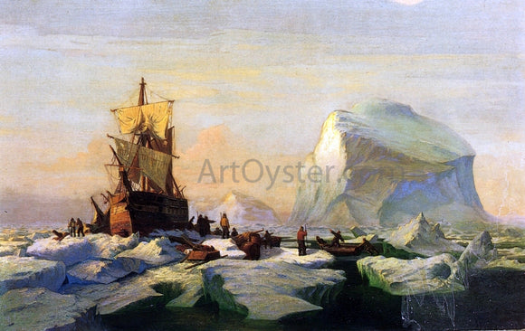 William Bradford Trapped in the Ice - Canvas Art Print