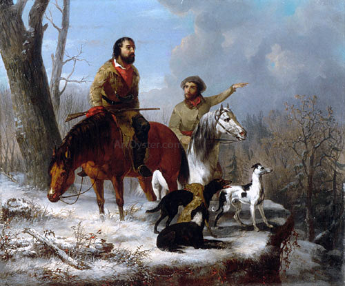 Jonathan Kirkbridge Trego Trappers - Canvas Art Print