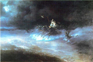Ivan Constantinovich Aivazovsky Travel of Poseidon by sea - Canvas Art Print