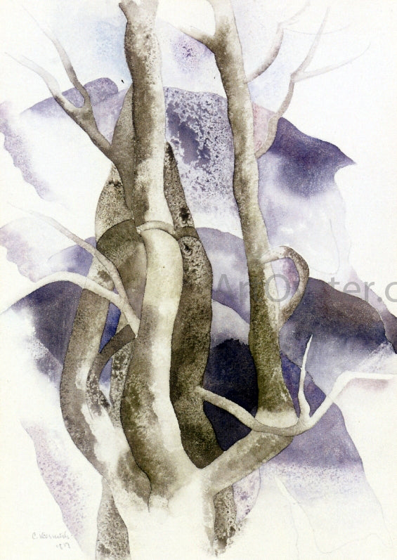 Charles Demuth Tree Forms - Canvas Art Print