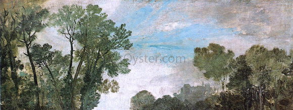 Joseph William Turner Tree Tops and Sky, Guildford Castle, Evening - Canvas Art Print