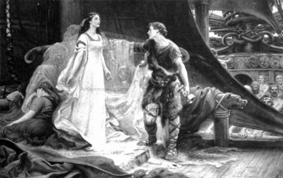 Herbert James Draper Tristan and Isolde - Canvas Art Print
