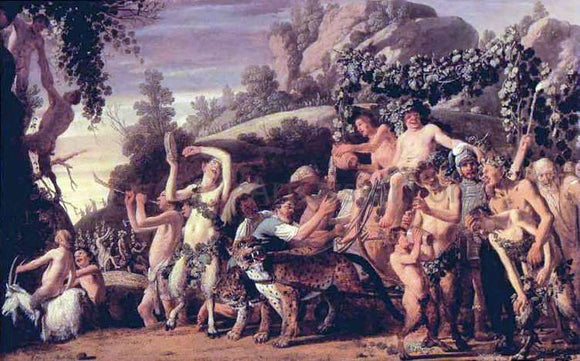 Claes Cornelisz Moeyaert Triumph of Bacchus - Canvas Art Print