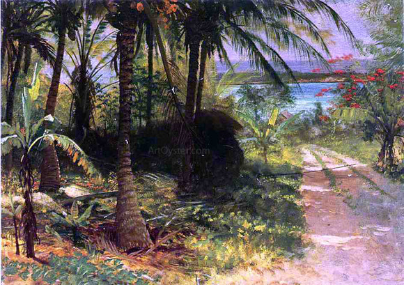 Albert Bierstadt A Tropical Landscape - Canvas Art Print