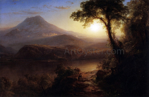 Frederic Edwin Church Tropical Scenery (also known as South American Landscape) - Canvas Art Print