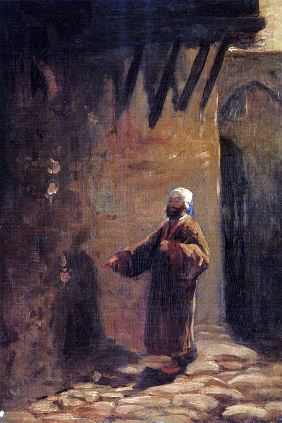 Carl Spitzweg Turke in Enger Gasse - Canvas Art Print