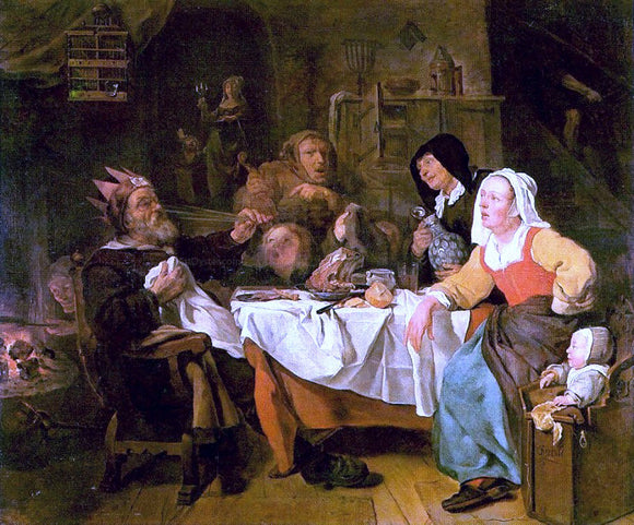 Gabriel Metsu Twelfth Night - Canvas Art Print