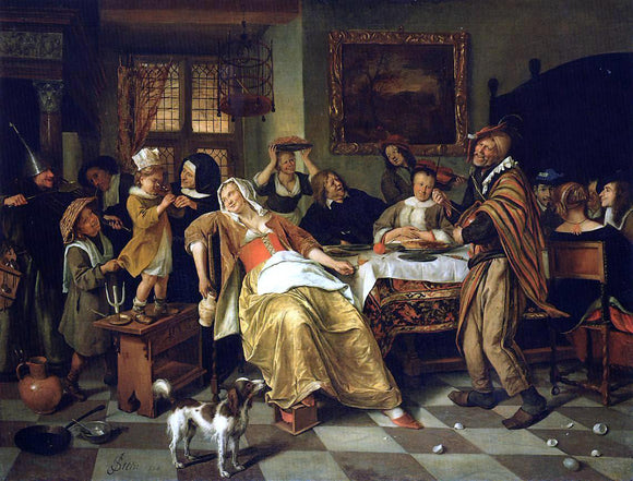 Jan Steen Twelfth Night - Canvas Art Print